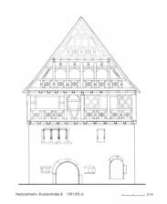 """Ansicht des Vordergiebels / """"Alte Burg"""" in 79336 Herbolzheim (Dipl.-Ing. Stefan King, Kandelstr. 8, 79106 Freiburg)"""