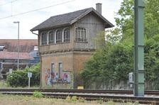 Ansicht von Nordwesten / Stellwerk 1 in 74189 Weinsberg (01.06.2015 - strebewerk)