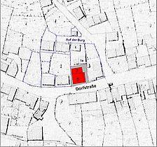 Lageplan (Vorlage Urkataster von 1822-33) / Stockwerk-Geschossgerüstbau in 72074 Tübingen, Lustnau