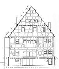 Südansicht / Stockwerk-Geschossgerüstbau in 72074 Tübingen, Lustnau
