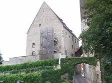 Ansicht von Süden / Sog. Steinhaus, ehem. Fruchtkasten und Gefängnis in 74354 Besigheim (2007 - Denkmalpflegerischer Werteplan, Gesamtanlage Besigheim, Regierungspräsidium Stuttgart)