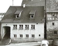Nordwestseite   Milchsammelstelle um 1950 / Abgegangenes Wohnhaus in 74354 Besigheim (06.10.2016 - Stadtarchiv Besigheim)