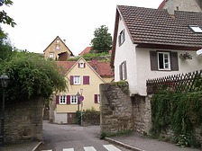 Südseite mit Bügelestor und Haus Bügelestor 17 / Wohnhaus in 74354 Besigheim (Denkmalpflegerischer Werteplan,  Gesamtanlage Besigheim  Regierungspräsidium Stuttgart)