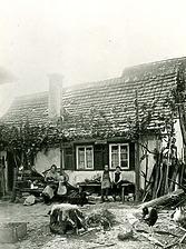 Historische Aufnahme, Ansicht von Westen / Abgegangenes Wohnhaus in 74354 Besigheim (Stadtarchiv Besigheim)