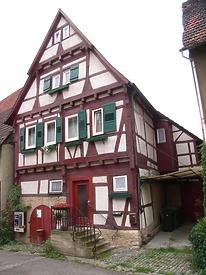 Ansicht von Nordost / Wohnhaus, Weingärtnerhaus in 74354 Besigheim (2007 - Denkmalpflegerischer Werteplan, Gesamtanlage Besigheim, Regierungspräsidium Stuttgart)