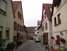 Nördliche Vorstadt Richtung Westen, Bereich Haus Nr. 36 und 73  / Vorstadt in 74354 Besigheim (2007 - Denkmalpflegerischer Werteplan,  Gesamtanlage Besigheim  Regierungspräsidium Stuttgart)