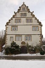 Sog. Chanofsky-Schloss, heute Rathaus in 74243 Langenbrettach, Langenbeutingen (02.02.2010)