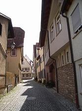 Blick nach Westen / Schlossgasse in 74354 Besigheim (2007 - Denkmalpflegerischer Werteplan,  Gesamtanlage Besigheim  Regierungspräsidium Stuttgart)
