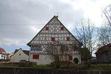 Nördlicher Giebel / Wohnhaus in 78628 Rottweil-Göllsdorf, Gällsdorf (Landesamt für Denkmalpflege Freiburg, Bildarchiv)