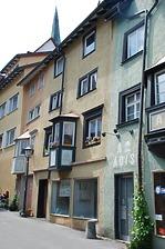 Rottweil, Engelgasse 7- Wohn- und Geschäftshaus, Südostansicht / Wohn- und Geschäftshaus in 78628 Rottweil, Altstadt (Landesamt für Denkmalpflege Freiburg, Bildarchiv)