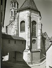 Westansicht Kapellenkirche, Chor / Kapellenkirche mit Kapellenturm  in 78628 Rottweil (Fotoarchiv Freiburg, Landesamt für Denkmalpflege)