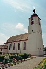 Kath. Pfarrkirche SS. Cosmas und Damian, Nordansicht / Kath. Pfarrkirche SS. Cosmas u. Damian in 79361 Sasbach-Jechtingen (Fotoarchiv Freiburg, Landesamt für Denkmalpflege)