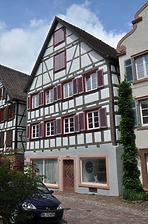 Wohn- und Geschäfthaus, Marktplatz 9 in Schiltach - Südgiebel / Wohn- und Geschäfthaus in 77761 Schiltach (Fotoarchiv Freiburg, Landesamt für Denkmalpflege)