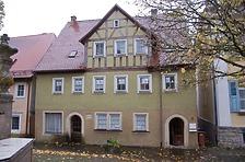 Gesamtansicht von Norden (Straßenseite). / Wohnhaus, ehem. Gasthaus zum Stern in 74594 Langenburg (11/2017 - Stefan Uhl)