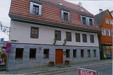 """Ansicht von Ost, von der Marktstraße / Gasthaus """"Löwen"""" in 71522 Backnang (Armin Seidel)"""