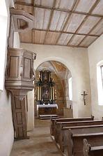 Innenansicht Chor / Zeilenkapelle St. Sebastian in 78576 Emmingen-Liptingen (Bildarchiv, Landesamt für Denkmalpflege)