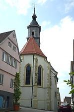 Stadtkirche Marbach am Neckar. Choransicht von Osten. / Ev. Stadtkirche in 71672 Marbach am Neckar (04.05.2018 - Michael Hermann, Heimerdingen)