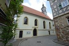 Stadtkirche Marbach am Neckar. Langhaus Südseite. / Ev. Stadtkirche in 71672 Marbach am Neckar (04.05.2018 - Michael Hermann, Heimerdingen.)