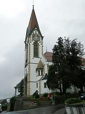 Südostansicht / Kath. Pfarrkirche St. Dionysius in 78262 Gailingen am Hochrhein (Bildarchiv, Landesamt für Denkmalpflege, Dienstsitz Freiburg)