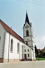 Südwestansicht / St. Michael in 78187 Geisingen-Leipferdingen (Bildarchiv, Landesamt für Denkmalpflege, Dienstsitz Freiburg)