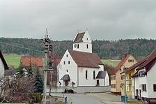 Südwestansicht  / St. Priska in 78194 Immendingen-Ippingen (Bildarchiv, Landesamt für Denkmalpflege, Dienstsitz Freiburg)