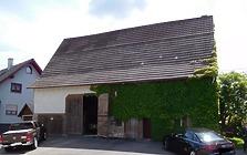 Dornhan-Weiden, Sulzer Straße 46, Wohn- und Ökonomiegebäude, Westansicht / Wohn- und Ökonomiegebäude in 72175 Dornhan-Weiden (Bildarchiv, Landesamt für Denkmalpflege im Regierungspräsidium Stuttgart, Dienstsitz Freiburg)