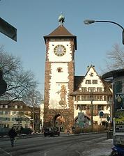 Südansicht / Schwabentor in 79098 Freiburg, Altstadt (Bildarchiv Freiburg, Landesamt für Denkmalpflege)