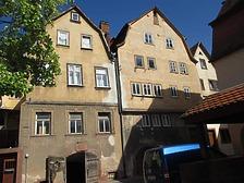 Ansicht Westfassade, Mühlenstraße 17a (links im Bild) / Wohnhaus, ehem. Winzerhaus in 97877 Wertheim (Juan Sanchez)