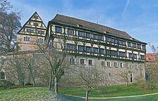 Kapffscher Bau mit Klostermauer / Kapfscher Bau (Infirmerie) in 72074 Tübingen-Bebenhausen