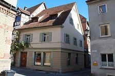 Rottweil, Badgasse 9- Wohnhaus Südwestansicht / Wohnhaus in 78628 Rottweil, Altstadt (Landesamt für Denkmalpflege Freiburg, Bildarchiv)