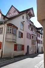 Rottweil, Badgasse 5 - Wohnhaus, Nordwestansicht / Wohnhaus in 78628 Rottweil, Altstadt (Landesamt für Denkmalpflege Freiburg, Bildarchiv)