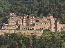 Ansicht von der Talseite / Schloss Heidelberg (Sachgesamtheit) in 69117 Heidelberg, Altstadt