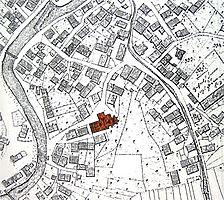 Ausschnitt der historischen Flurkarte von 1830 / Mauritiuskirche in 72131 Ofterdingen