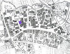 Katasterplan von Altingen um 1830 / Fachwerkhaus in 72119 Ammerbuch - Altingen