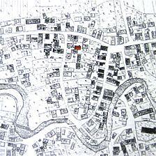 Auschnitt aus der historischen Flurkarte von 1822 / Fachwerkhaus in 72116 Mössingen