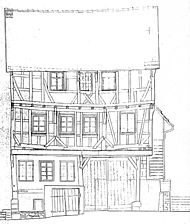 Aichtal Grötzingen, Ansicht Ost / Wohnhaus mit Scheune (Ev. Gemeindehaus) in 72631 Aichtal Grötzingen