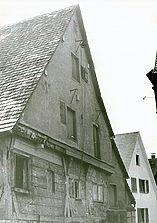 Altensteig, Paulusstraße 19, Giebel des Hauses / Alte Bäckerei in 72213 Altensteig