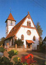 Altensteigdorf, Kirchplatz 2, Westansicht Kirche  / Evangelische Kirche in 72213 Altensteig, Altensteigdorf