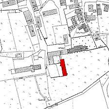 Ausschnitt Flurkarte 1962 / Westflügel Konventgebäude in 73467 Kirchheim/Ries, Kirchheim am Neckar