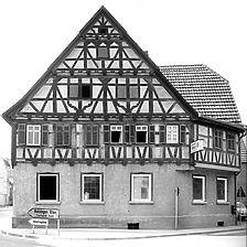 Photogrammetrische Aufnahme 1975 Ansicht Nordost / Gasthaus Rössle in 72636 Frickenhausen