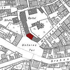 Ausschnitt Flurkarte 1956 (Vorlage LV-BW) / Heilig-Geist-Spital in 71706 Markgröningen