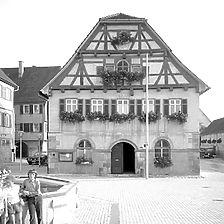 Photogrammetrische Aufnahme Ansicht von Nord, 1976 / Altes Rathaus in Winterbach