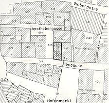 Lageplan 1997 / Wohngebäude in 73728 Esslingen am Neckar