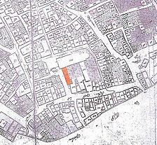 Ausschnitt Kandlerscher Riss von 1773/74 / ehem. Franziskanerkloster in 73728 Esslingen am Neckar
