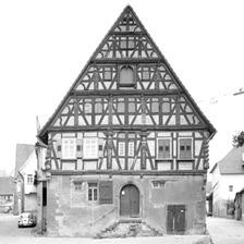 Photogrammetrische Aufnahme der Nordansicht (1976) / Wohnhaus in 74382 Neckarwestheim
