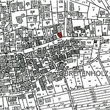 aktueller Flurkartenausschnitt / Wohnstallhaus in 72117 Ammerbuch - Breitenholz
