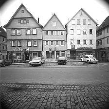 Photogrammetrische Aufnahme Markstraße Nordseite 32-28, 1977 / Fassadenabwicklung in 71672 Marbach am Neckar