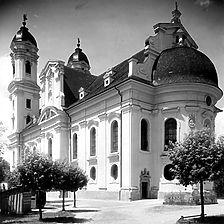 Ansicht von Südost (Vorlage LMZ) / Wallfahrtskirche in 73479 Ellwangen-Schönenberg