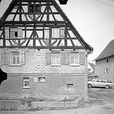 Photogrammetrische Aufnahme Ansicht West, 1977 / Wohnhaus in 72411 Bodelshausen