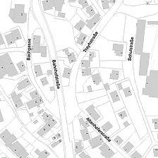 Flurkarte 2006 (LV-BW und LAD) Gebäude Traystraße 1 abgebrochen / Wohnhaus in 72411 Bodelshausen